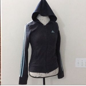 Adidas Blue Zip Up Hoodie Size S